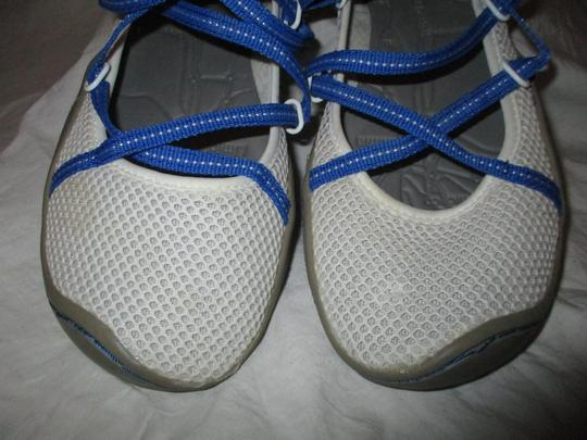 J-41 Barefoot Mesh Light Weight white & blue Athletic Image 10