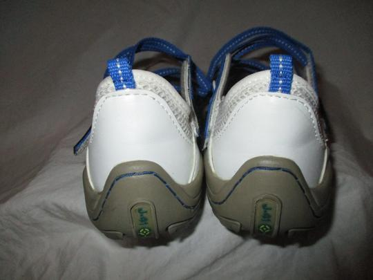 J-41 Barefoot Mesh Light Weight white & blue Athletic Image 6