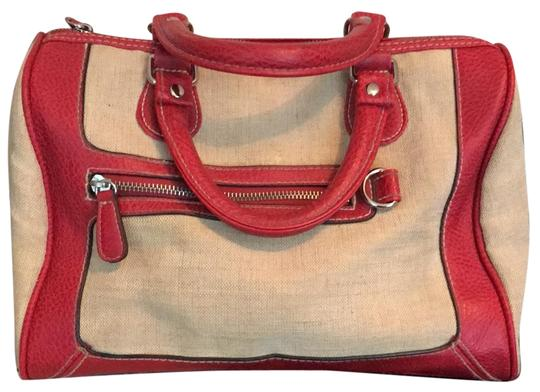 Preload https://img-static.tradesy.com/item/23184896/canvas-taupe-and-red-man-made-satchel-0-1-540-540.jpg