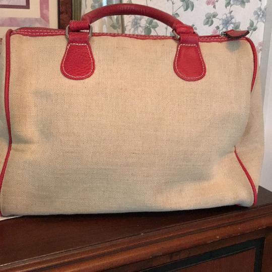 Other Satchel in taupe and red Image 2