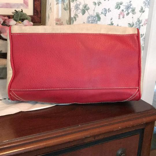 Other Satchel in taupe and red Image 3