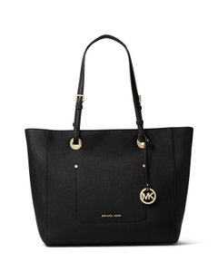 Michael Kors Walsh Large Tote in Black/Gold