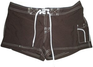 Lilu Front Ties Board Mini/Short Shorts Brown/White