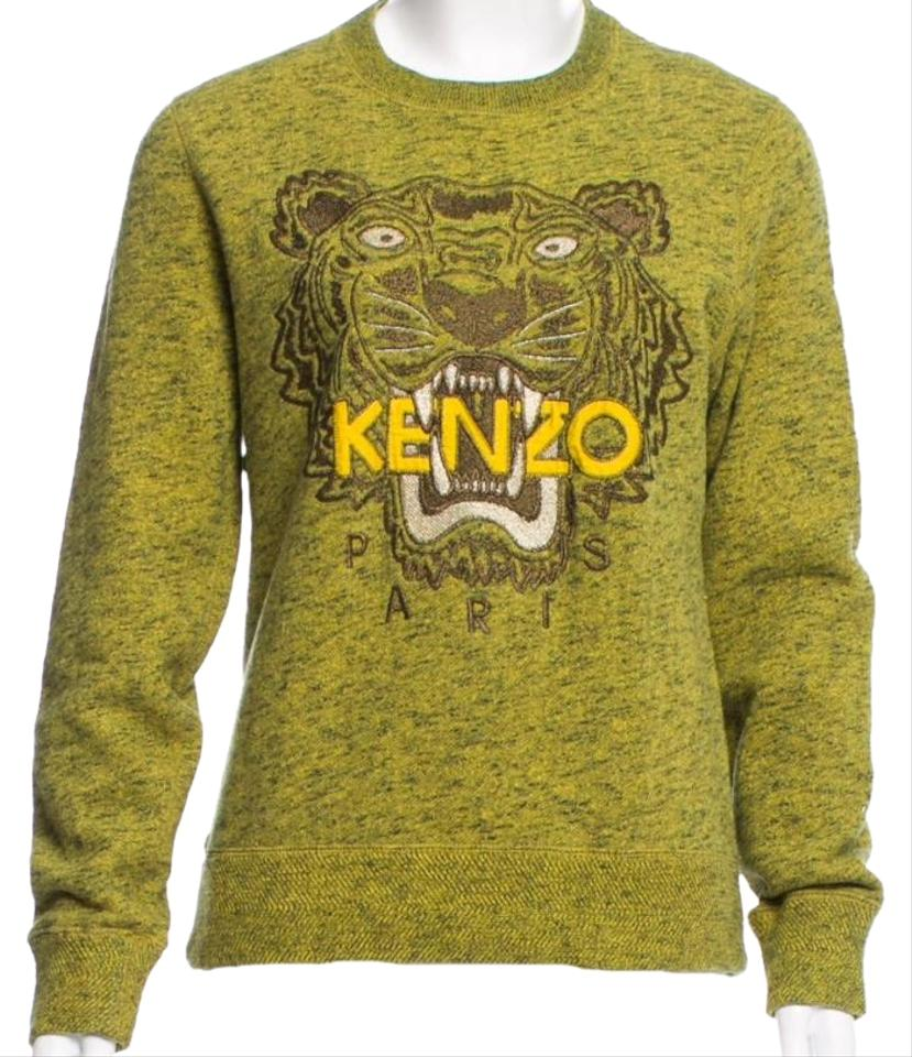 62313478b Kenzo Green Logo Green/Gold Icon Tiger Sweater Sweatshirt/Hoodie ...