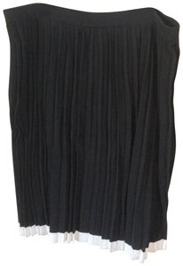Michael Kors Pleated Pencil Party Wear To Work B&w Skirt Black & White