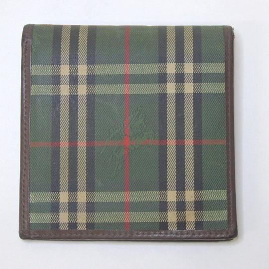 Burberry Nylon and leather Burberry Wallet Card case holder green nova check Image 4