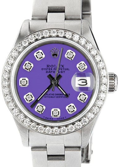 Preload https://img-static.tradesy.com/item/23185215/rolex-datejust-ladies-26mm-steel-oyster-wlavender-dial-and-diamond-bezel-watch-0-1-540-540.jpg