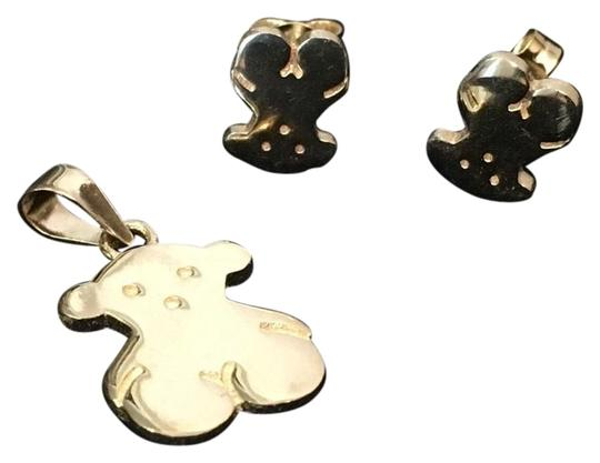 Other SET OF SOLID 14karat gold Earrings and Pendant Image 0