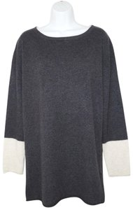 Lord & Taylor Cashmere Tunic Color-blocking Sweater