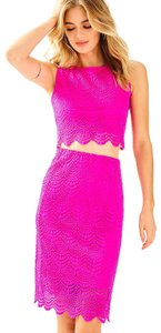 Lilly Pulitzer Lace Stretch Scallop Skirt Pink