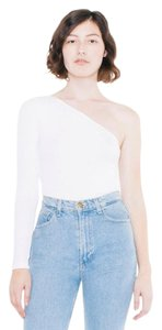 American Apparel Cold Shoulder T Shirt White