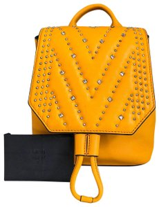 MCM Leather Diamond Disco Mini Backpack