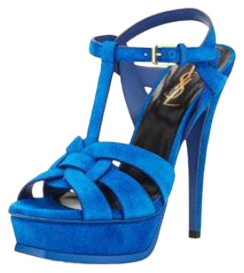 Saint Laurent Blue Platforms Image 0