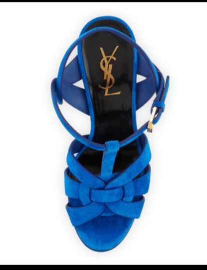 Saint Laurent Blue Platforms Image 1