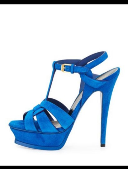 Saint Laurent Blue Platforms Image 2