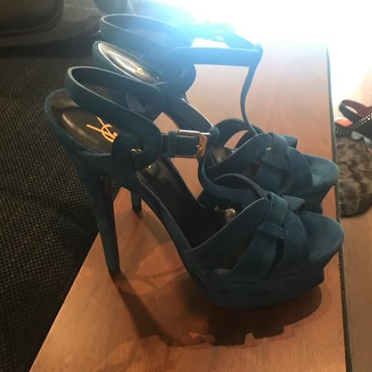 Saint Laurent Blue Platforms Image 4