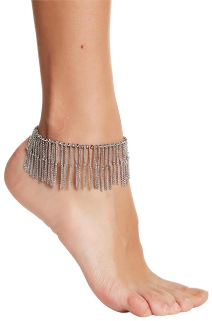 Item - Silver Darling Plate Fine Chains Beads Anklet New