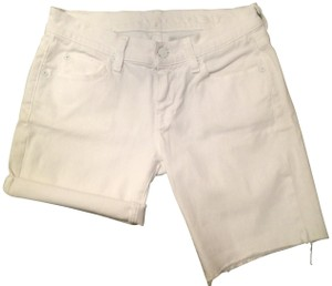 7 For All Mankind Summer Cut Off Shorts white