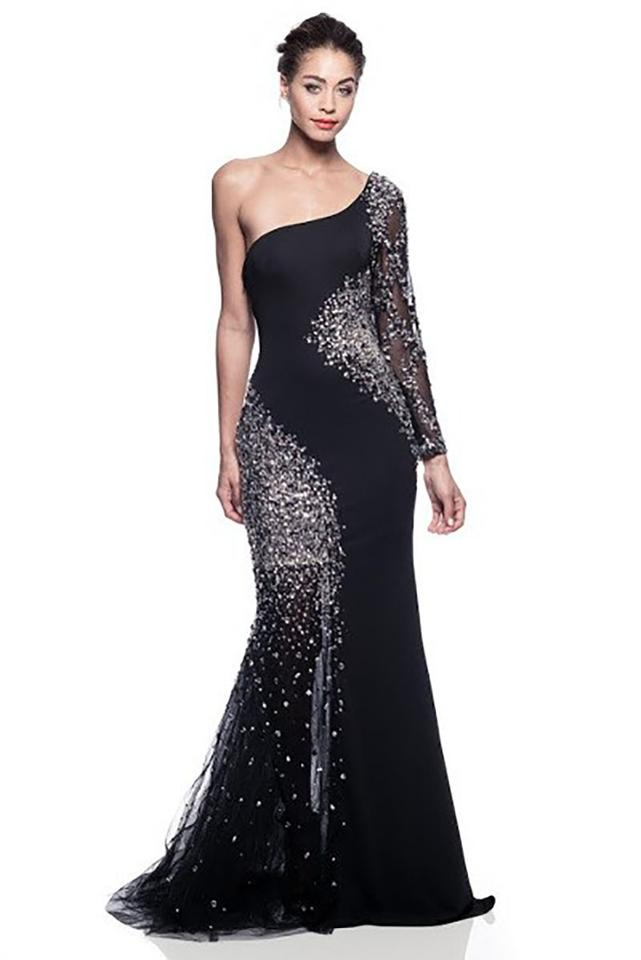 AG Studio Black Evening Gown Long Formal Dress Size 8 (M) - Tradesy