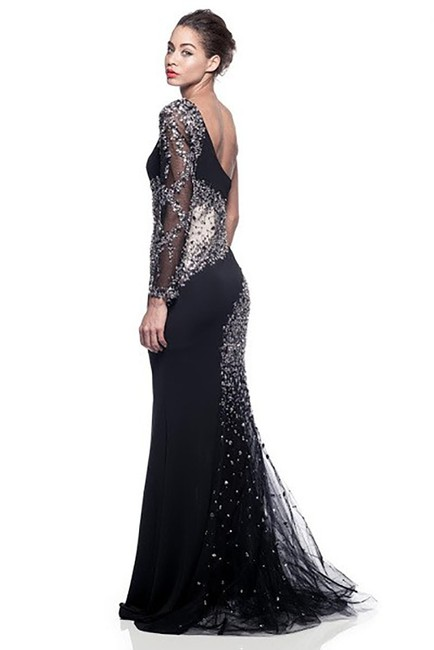 AG Studio Sparkle Evening Ball Gown Prom Party Dress Image 2