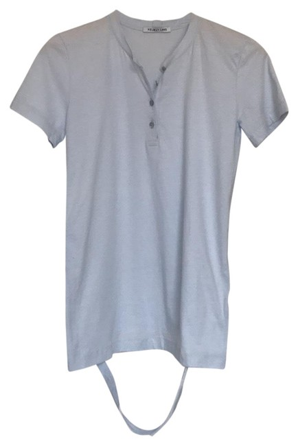 Helmut Lang Baby Blue Detached Hem Henley Tee Shirt Size 4 (S) Helmut Lang Baby Blue Detached Hem Henley Tee Shirt Size 4 (S) Image 1