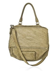 Givenchy Leather Worn Satchel in beige