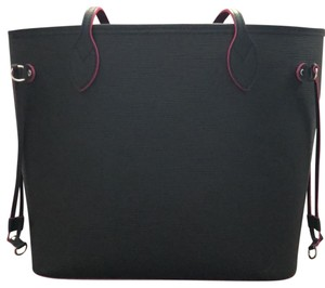 Louis Vuitton Tote in Black with Hot Pink lining