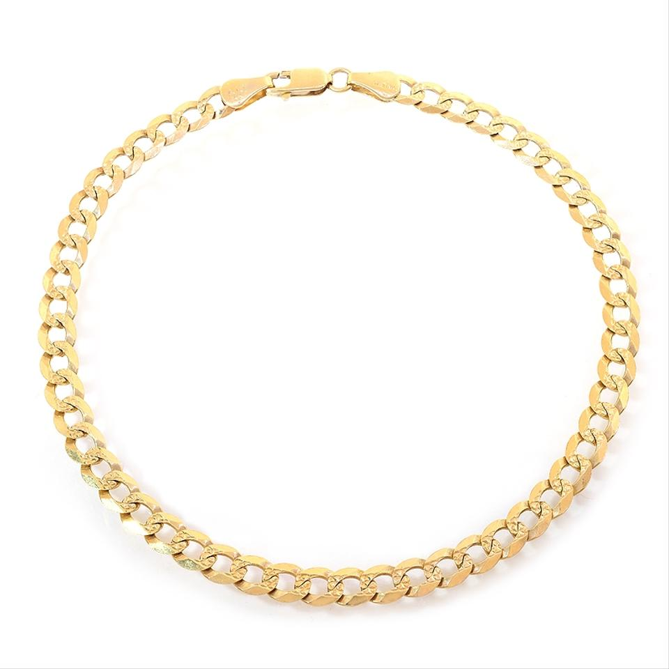 Avital Co Jewelry Yellow Gold 14k Curb Link Chain Ankle Bracelet