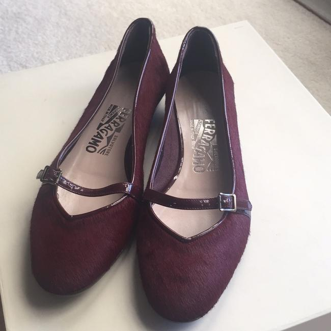 Item - Burgundy Flats Size US 5.5 Regular (M, B)