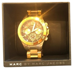 Marc by Marc Jacobs Marc by Marc Jacobs Chronograph Black Dial Gold Tone Womens Watch