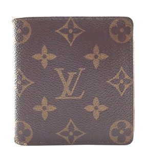 Louis Vuitton Monogram Bifold Compact Wallet Bill Multi Card Slots Wallet