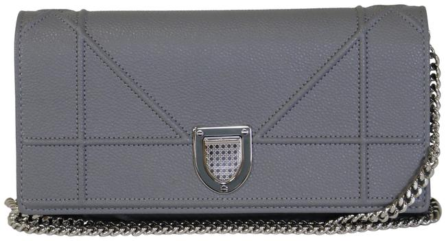 Item - Wallet on Chain ama Croisiere Grey Leather Clutch