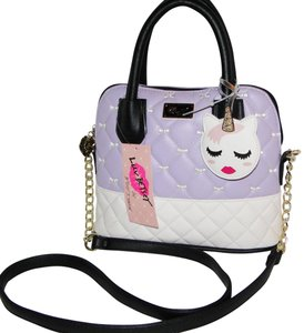 Betsey Johnson Unicorn Quilted Satchel Cross Body Bag