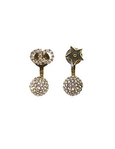 Dior Christian Dior Pave Crystal CD/Star La Petite Tribale Earrings with Bo