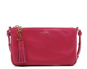 Saint Laurent Ysl Messenger Shoulder Pink Cross Body Bag