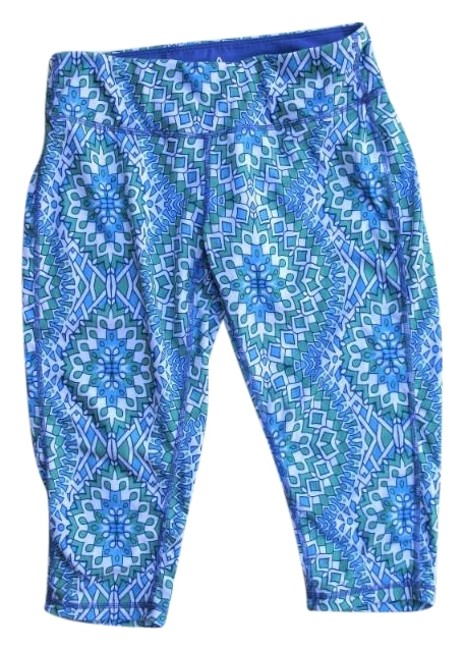 Item - Cool Green Blue Ibiza Print Maison Knickers Activewear Bottoms Size 4 (S, 27)