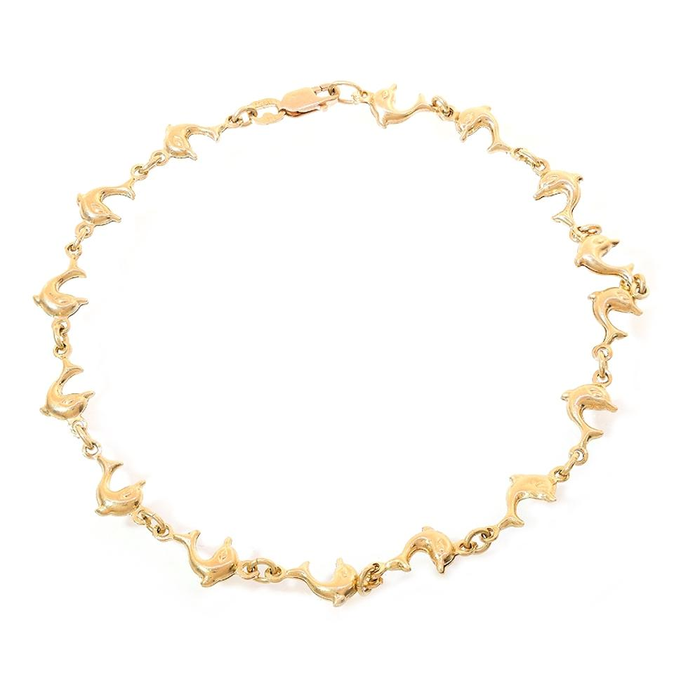 anklet mariner yellow gold link p
