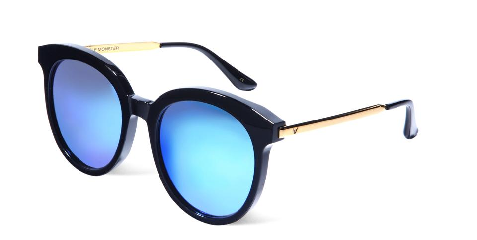 071e93476a7 Gentle Monster 56mm Round Blue Sunglasses Image 0 ...