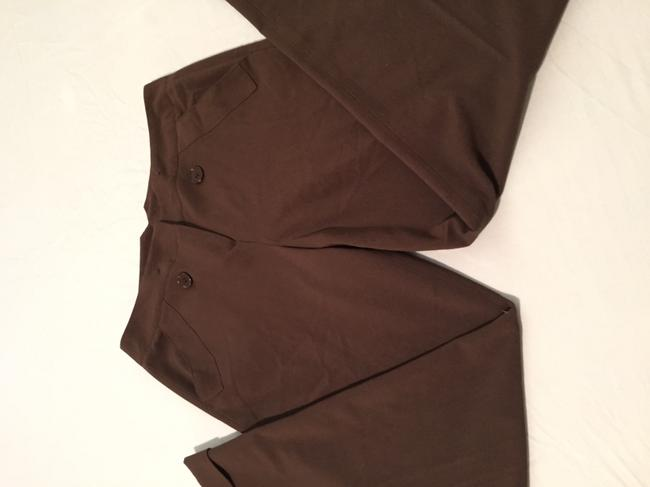 New Directions Flare Pants Dark Brown