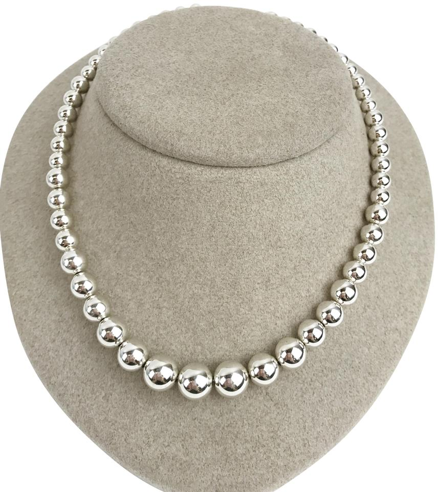 b990d9c63 Tiffany & Co. Silver Co Sterling 925 Graduated Bead Necklace - Tradesy