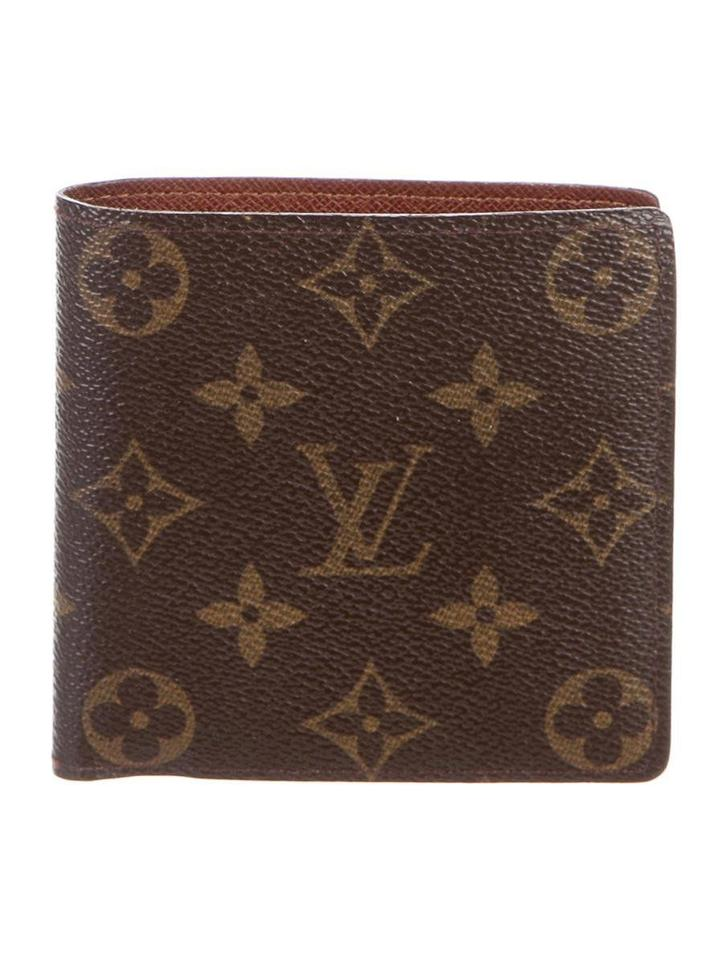 7fc0c67d59e5 Louis Vuitton LV Louis Vuitton Marco Monogram Canvas Men Wallet Brown Tan  Card Slots Image 0 ...