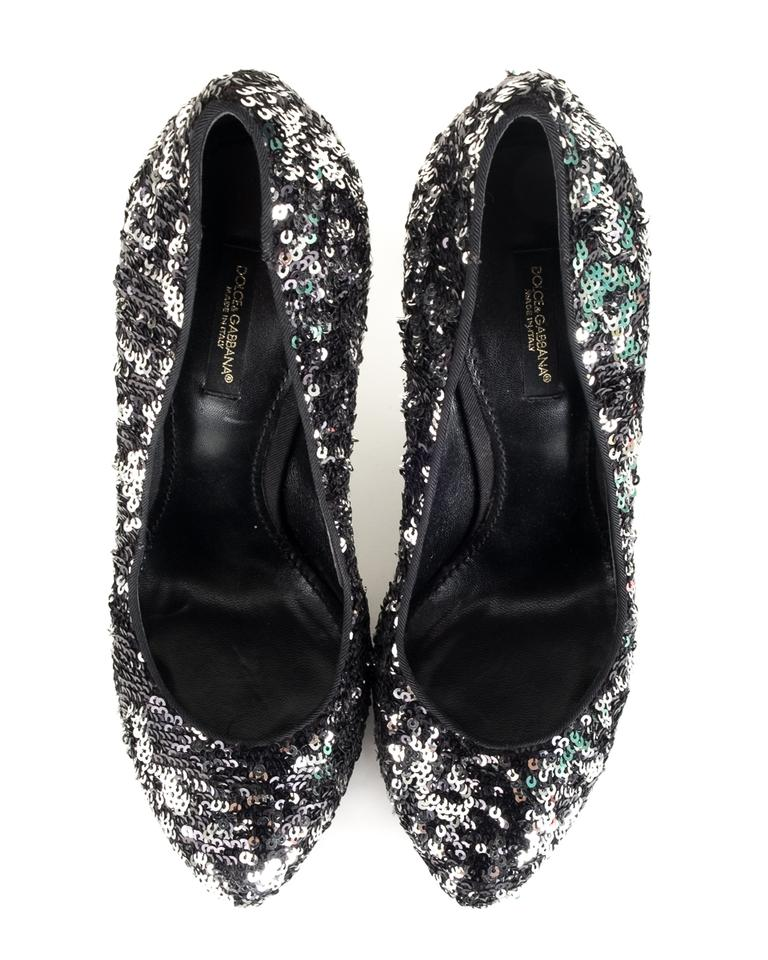 b38c0fcda22 Dolce&Gabbana Black Dolce & Gabbana Sequin Heels Pumps Size EU 38 (Approx.  US 8) Regular (M, B) 51% off retail