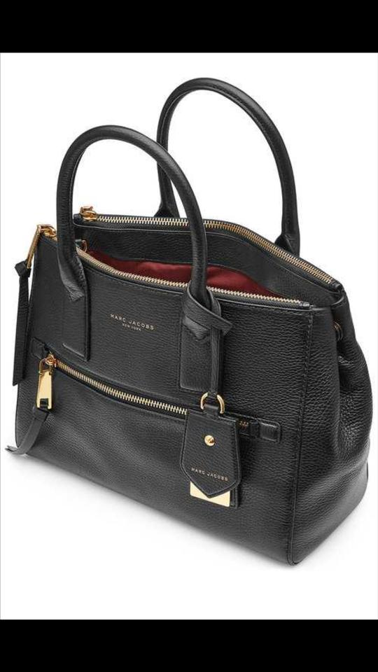 95c374e95e96 Marc Jacobs Recruit East West Black Leather Tote - Tradesy