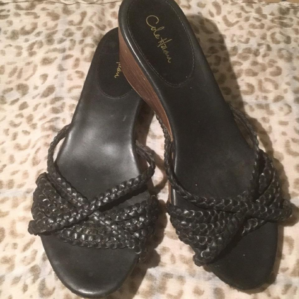 b8f2f7c4eb3 Cole Haan Nike Air Blk Braided Leather Sandals. Size  US 8.5 Regular (M ...