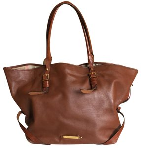 Burberry Leather Tote in Brown