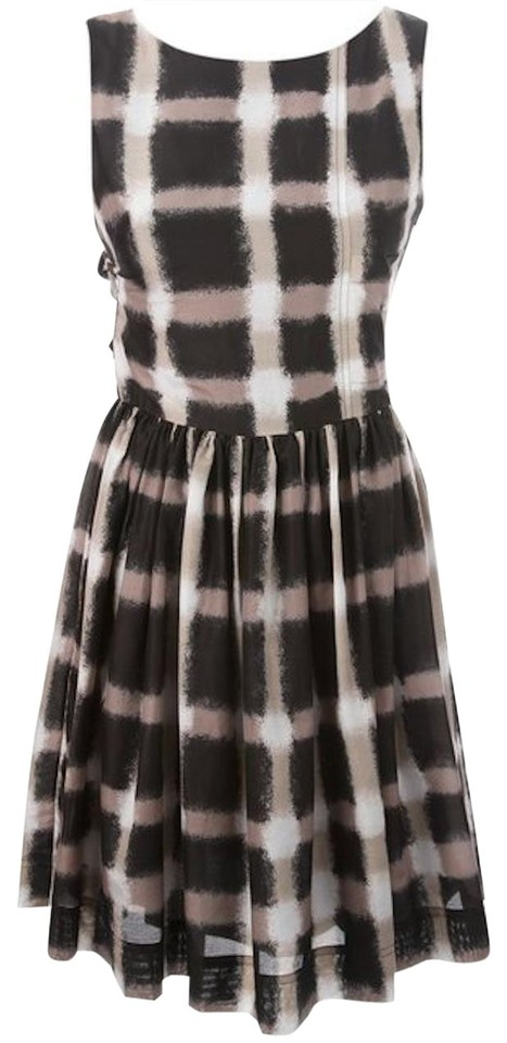 Marc By Jacobs Short Dress Black Taupe Designer Silk Fit And Flare On Tradesy