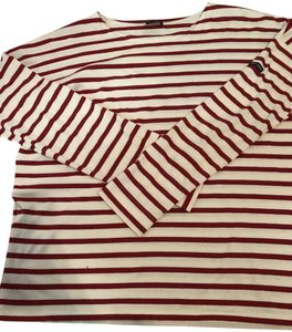 Saint James T Shirt Red and white