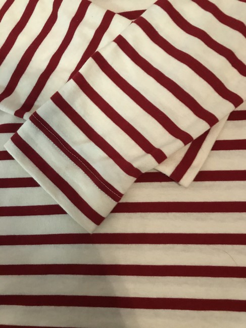 Saint James T Shirt Red and white Image 3