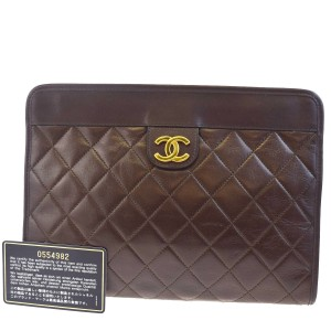 Chanel Dark Brown Clutch
