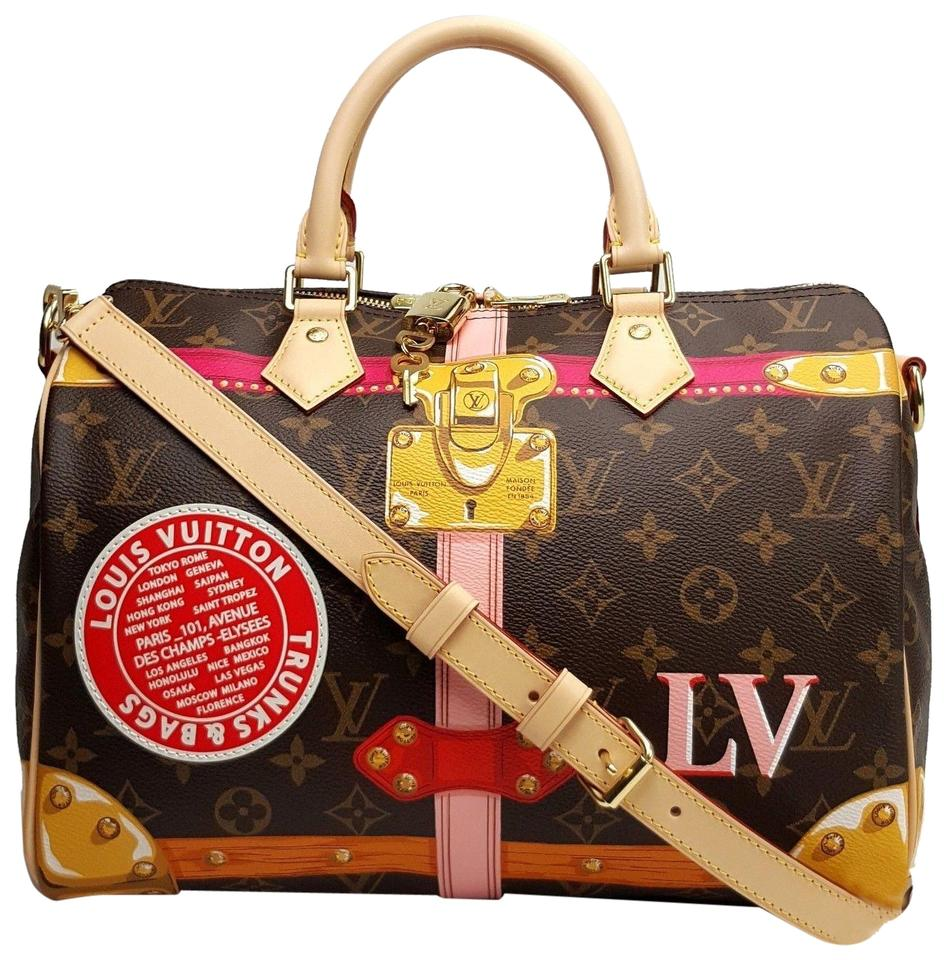 41e8e384e5c1 Louis Vuitton Speedy 30 Bandouliere Summer Trunks Monogram Shoulder Bag  Image 0 ...